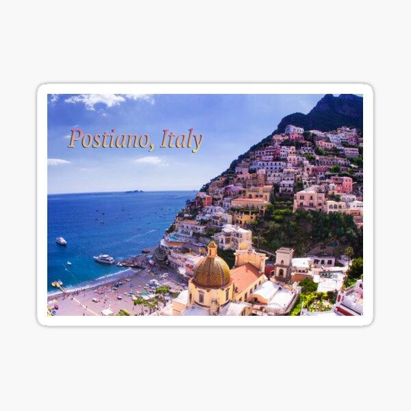 Postcard View Of Positano, Italy  Sticker