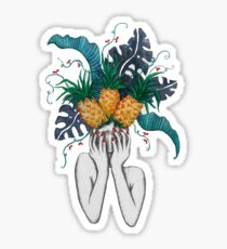 Pineapples are in my head Sticker