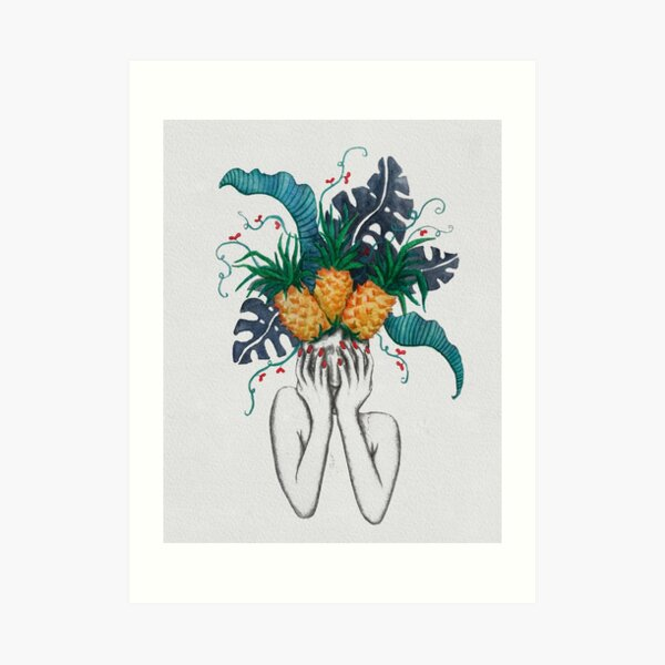 Pineapples are in my head Art Print