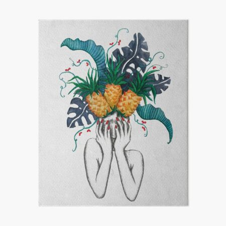 Pineapples are in my head Art Board Print