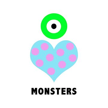 eye heart monsters by parkhopbears