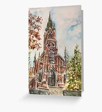 Sainte Marie church in Autumn Greeting Card