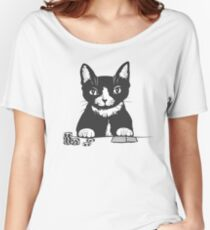Poker Cat Face Women's Relaxed Fit T-Shirt