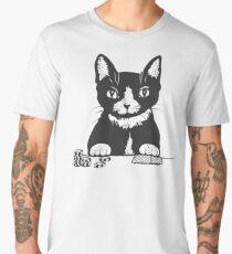 Poker Cat Face Men's Premium T-Shirt