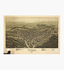 Aerial View of Tyrone, Pennsylvania (1895) Photographic Print