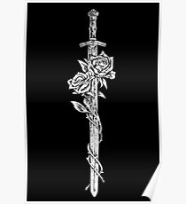 Sword and roses Poster