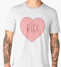 I Love Rick Heart | Rick and Morty Men's Premium T-Shirt
