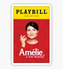 Amelie Playbill Sticker