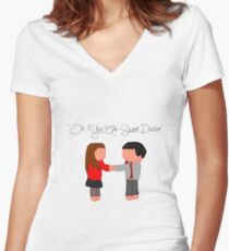 """Oh You Are Sweet Doctor"" Women's Fitted V-Neck T-Shirt"