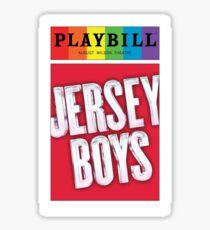 Jersey Boys Pride Playbill Sticker