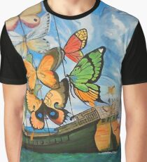 The Butterfly Boat Graphic T-Shirt