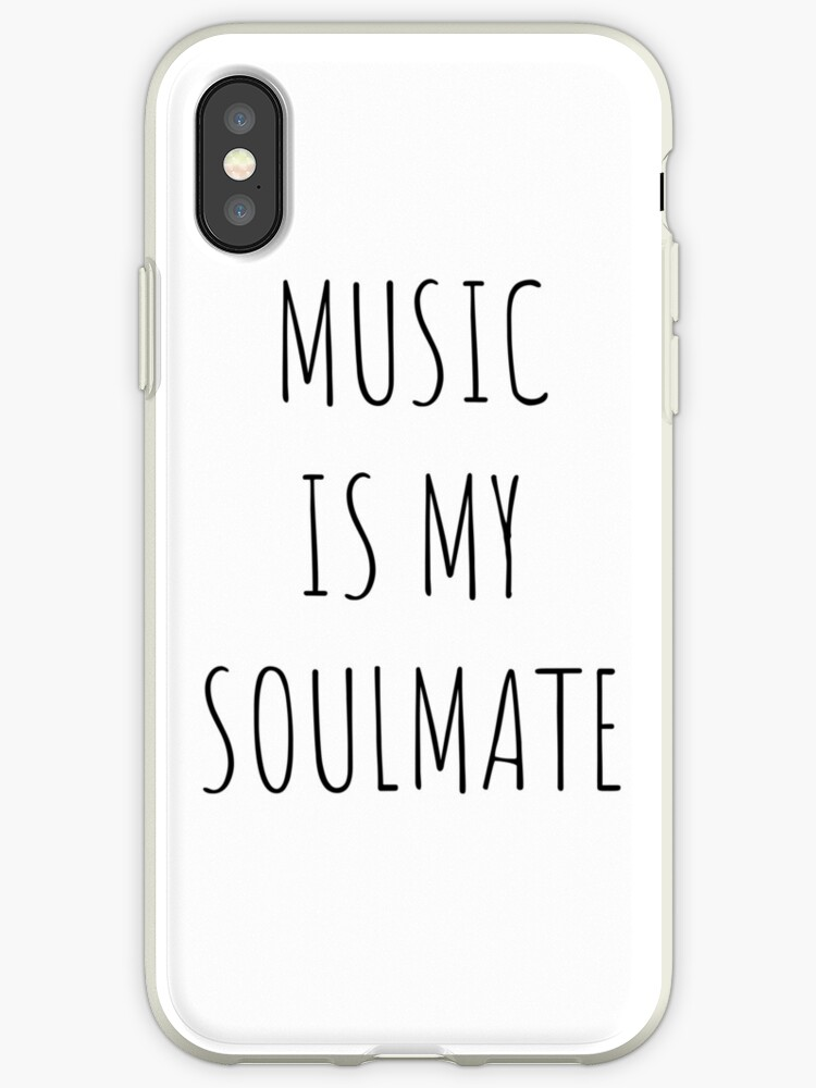 'music is my soulmate' iPhone Case by despresso