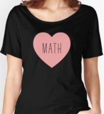 I Love Math Heart Women's Relaxed Fit T-Shirt