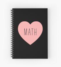 I Love Math Heart Spiral Notebook