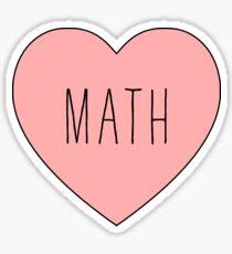 I Love Math Heart Sticker