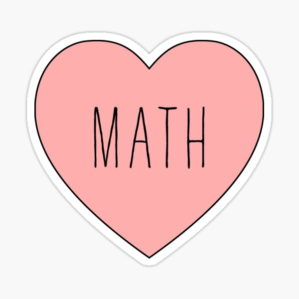 J'adore les maths coeur Sticker