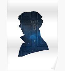Sherlock - galaxy 221b silhouette  Poster