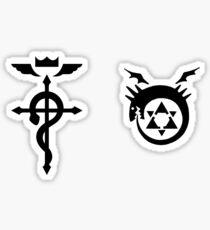 Fullmetal Alchemist Ouroboros + Flamel black Sticker
