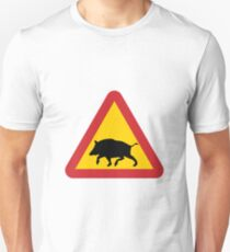 Boar Road Sign T-Shirt