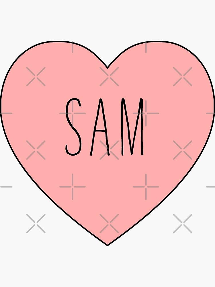Ich liebe Sam Herz von thepinecones