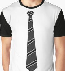 Business Casual Mock Black Tie Graphic T-Shirt