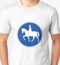 Horse Road Sign T-Shirt