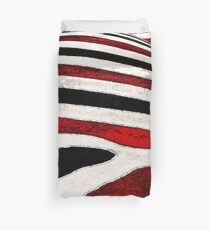 Black & White and Red All Over Duvet Cover