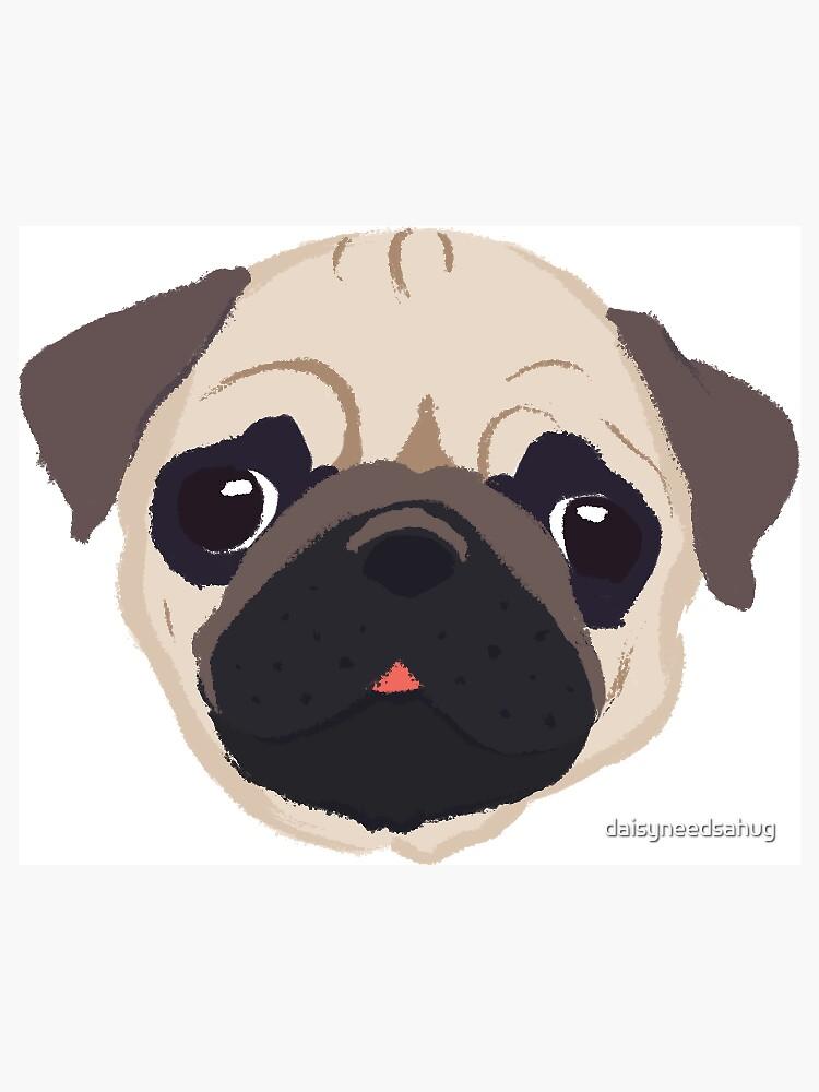 Lindo pug - dibujado a mano de daisyneedsahug