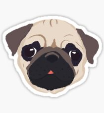 Netter Pug - Hand gezeichnet Sticker