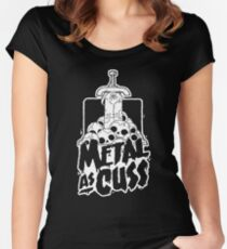Metal as Cuss Women's Fitted Scoop T-Shirt
