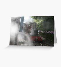 Steamy Scene Greeting Card