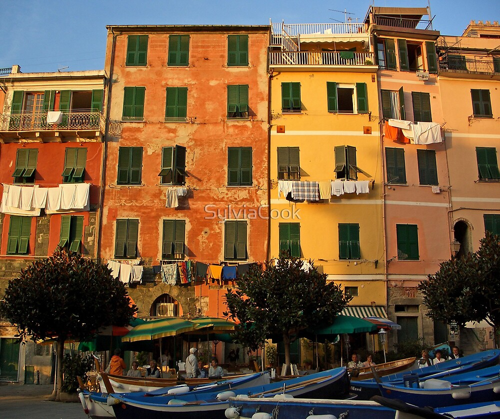 Colorful Vernazza by SylviaCook