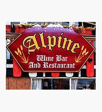 Alpine Wine Bar Photographic Print