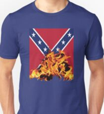 Burning Confederation Flag T-Shirt