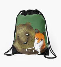 Timothy & Foxy Drawstring Bag