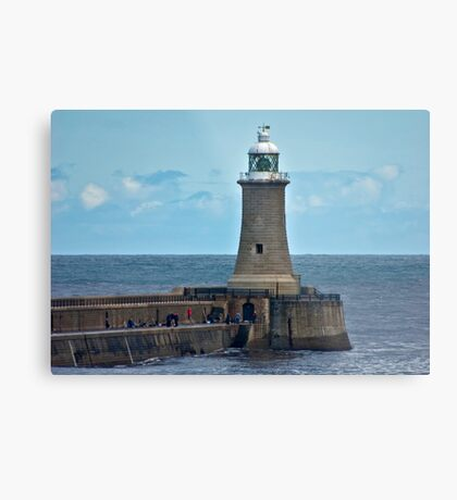 Harbour Light - Whitley Bay. Metal Print