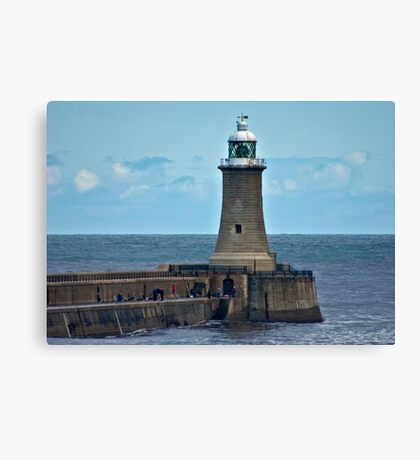 Harbour Light - Whitley Bay. Canvas Print