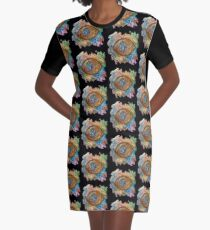 GOLDEN STEAMPUNK EYE Graphic T-Shirt Dress