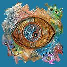 GOLDEN STEAMPUNK EYE by Nicola Furlong