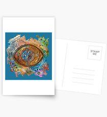 GOLDEN STEAMPUNK EYE Postcards
