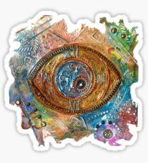 GOLDEN STEAMPUNK EYE Sticker