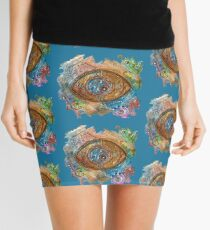 GOLDEN STEAMPUNK EYE Mini Skirt
