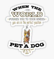 Pet A Dog Sticker