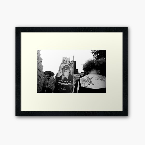 The Wizard and the Dragon NYC Framed Art Print