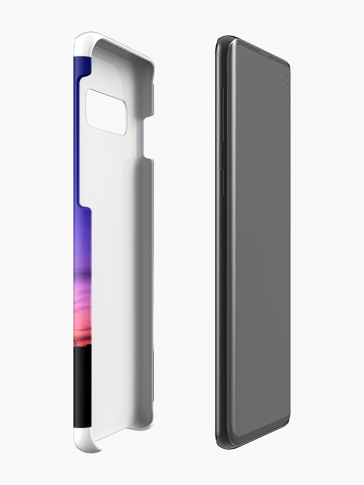 Vista alternativa de Funda y vinilo para Samsung Galaxy auroras boreales