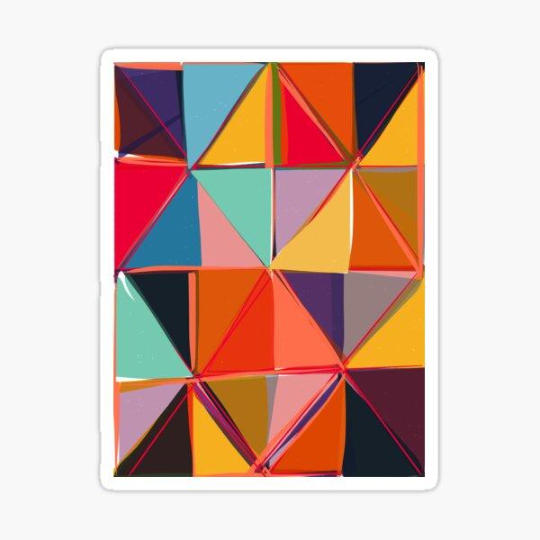 Square Triangles 2  Sticker