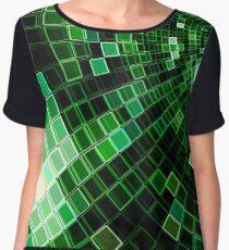 Matrix tunnel - abstract computer-generated image Women's Chiffon Top