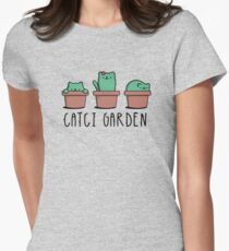 CATcus cactus cat plant garden hipster kitty Women's Fitted T-Shirt