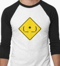 Caution: Asshole! Men's Baseball ¾ T-Shirt