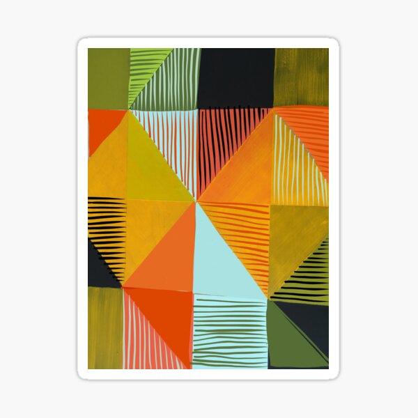 Square Triangles 3  Sticker